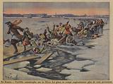 Terrible disaster on the frozen River Neva in St Petersburg