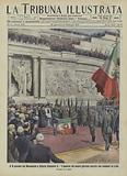 Ceremony commemorating the Italian Army's victory in Libya at the Victor Emmanuel II Monument in Rome