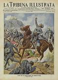 The heroic death of Italian Colonel Nicolo Maddalena at the Battle of Ettangi, Tripolitania