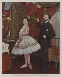 Mademoiselle Hirsch, ballet dancer, and Joseph Hansen, Belgian ballet master