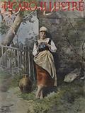 Tricoteuse (Knitter). Cover of Le Figaro Illustre, September 1896