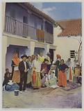 Gypsy weavers at Triana, a suburb of Seville
