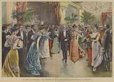 President Loubet of France at a ball at the Elysee Palace, Paris