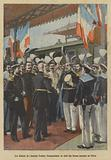 Farewells of Admiral Edouard Pottier, commander of French naval forces in China