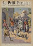 Punishment of a man who attacked Sultan Abdelhafid of Morocco