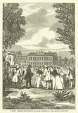 A Scene before Kensington Palace – George II and Queen Caroline