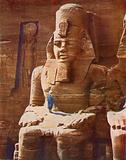 Colossal Seated Figure of Rameses II  At Abu-Simbel