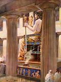 The Zeus of Pheidias, loftiest embodiment of divinity in art