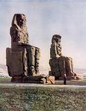 The famous Colossi of Memnon