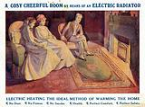 Advertisement for electric radiators for home heating