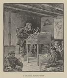 A colonial school-room