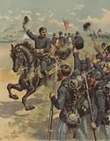 General McClellan at the Battle of Antietam, Maryland, American Civil War, 17 September 1862