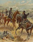 General Meade at the Battle of Gettysburg, Pennsylvania, American Civil War, 2 July 1863