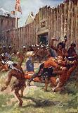 Red indians attacking the English