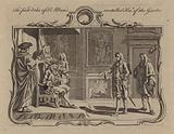 Charles Beauclerk, 1st Duke of St Albans, installed as a Knight of the Garter, 1718