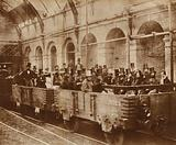 Gladstone in the first Metropolitan Train, 1863