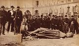 Vendome Column, after it was pulled down on 16 May 1871