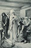 Elizabeth Fry walking freely in and out of the dungeons of Newgate