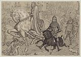 Edward the Black Prince, with his prisoner King John of France, entering London