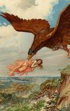 Thjassi, the giant, in his eagle plumage flew down and caught up Iduna