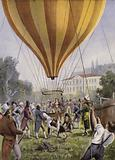 Gay-Lussac's balloon ascent from Paris, 9 September 1804