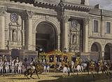 Proclamation of George IV as King of the United Kingdom at the Royal Exchange, London, 31 January 1820