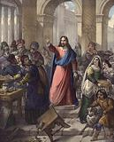 Christ cleanses the Temple