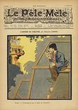 L'envers du theatre. Illustration for Le Pele-Mele, 1902