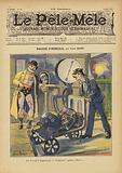 Bagage d'Hercule. Illustration for Le Pele-Mele, 1902.