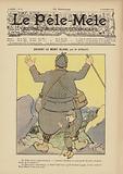 Devant le Mont Blanc. Illustration for Le Pele-Mele, 1902.
