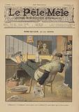 Rond-de-cuir. Illustration for Le Pele-Mele, 1902