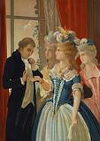 Alessandro Cagliostro and Marie Antoinette at the Petit Trianon, Versailles