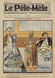 Les microbes conversent. Illustration for Le Pele-Mele, 1906.