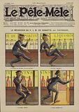Le mecanicien du PLM en goguette. Illustration for Le Pele-Mele, 1906.