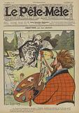Coquetterie. Illustration for Le Pele-Mele, 1906.
