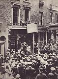 Attack on German shop in London, c 1914