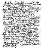 Signatures to the Declaration of Independence