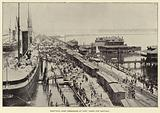 Shafter's Army embarking at Port Tampa for Santiago