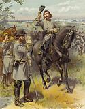 General Pickett taking the order to charge from General Longstreet, Gettysburg; 3 July 1863