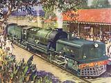 India, Beyer-Garratt Articulated Locomotive on the Bengal-Nagpur Railway