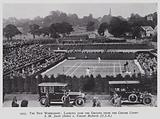 1923, The New Wimbledon, Looking over the Ground from the Centre Court, S M Jacob (India) v Vincent Richards (USA)