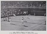 1924, America v France in the Centre Court, W M Washburn and R N Williams v J Borotra and R Lacoste