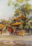 Pailau in the Lama Temple, Peking