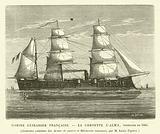 Marine Cuirassee Francaise, La Corvette L'Alma, construite en 1865, Gravures extraites des Armes de guerre et …