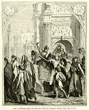 Juifs et chretiens chasses de Rome par l'ordre de l'empereur Claude