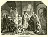 Chretiens dans les catacombes