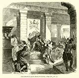 Saul cherche a percer David de sa lance