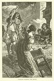 King Charles II chasing a moth