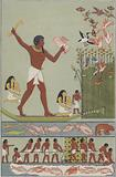 Ancient Egyptians fishing and hunting birds