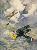 British machines chasing the German Scarlet Scouts